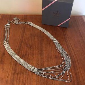 EUC CAbi Villa Convertible Necklace Silver